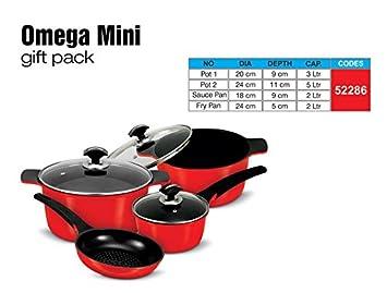 Juego de accesorios para Omega Sonex Falcon, juego de rojo, de cocina, fácil de limpiar sartenes: Amazon.es: Hogar