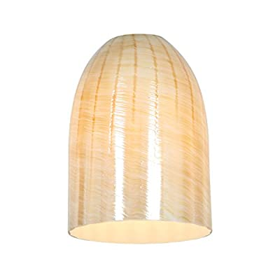 Access Lighting 23118-WAMB Inari Silk Pino Pendant Glass Shade, Wicker Amber Glass Finish