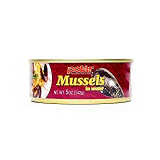 MW Polar Boiled mussels in Water, 5 Ounce (Pack of 24)