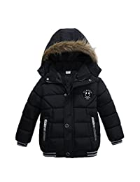Tenworld Toddler Baby Boys Outerwear Cotton-Padded Hooded Coats Winter Jacket