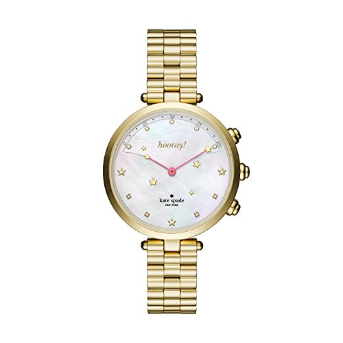 Hybrid Analog (kate spade new york Women's KST23200 Holland Slim Hybrid Analog Display Quartz Gold Watch)