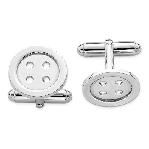 925 Sterling Silver Button Cuff Links Mens Cufflinks Man Link Fine Jewelry Gift For Dad Mens For Him from ICE CARATS