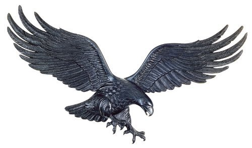 Doors Whitehall - Whitehall Products Decorative Wall Eagle, 36-Inch, Black