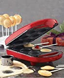New Babycakes PM-16SS 6 Pie Pop Maker Minature Nonstick Coated Cakes PM16SS Red