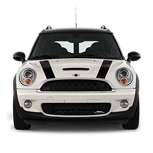 Bubbles Designs Set of Bonnet Hood Stripes Decal Sticker Graphic Compatible with Mini Cooper S Hatch Hardtop R50/53 R56 F55/56