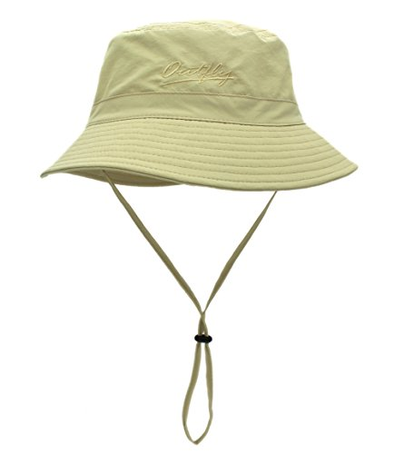 (Home Prefer Unisex Mens Womens Daily Summer Hat Plain Sun Protection Bucket Hat (Khaki))