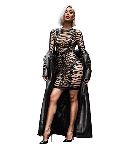 FetiWear Diamond Dress- Full Body Harness Lace Up Mini Dress: XS- L by FetiWear