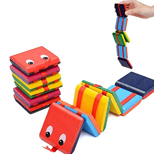 ZHNA Jacobs Ladder Wooden Fidget Toy Funny Classic Sensory Toy