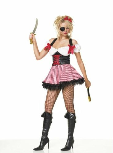 Pirate Wench Costume - X-Large - Dress Size 14-16 (Pirate And Wench)