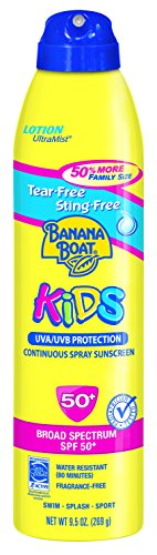 Banana Boat Sunscreen Ultra Mist Kids Tear-Free Sting-Free B