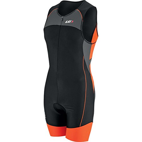 Louis Garneau Comp Suit Grey/Orange, XL - - Triathlon Men Clothing