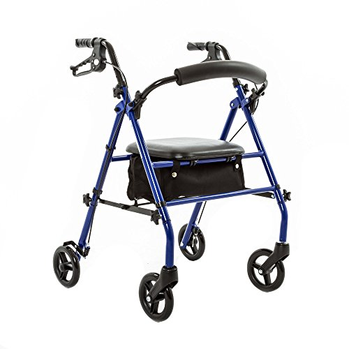 """Discount Ramps Silver Spring Steel Rollator with 6"""" Wheels"""
