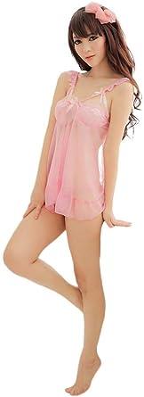 Mujer Pijamas Mujer Verano Cortos Casual Vestidos Moda Color ...
