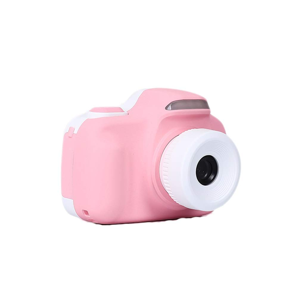 Child Kids Camera Digital Toy Birthday Gift Multilingual 24 Million Pixel 2-inch LCD HD Mini Photo (Color : Pink) by Zyj-Photo printer