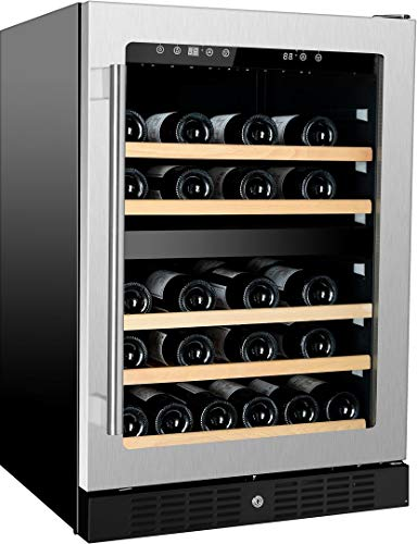 Kucht K148E12 24 Inch Built-In Dual Zone Wine Cooler with 54 Bottle Capacity, in Stainless Steel by Kucht (Image #3)