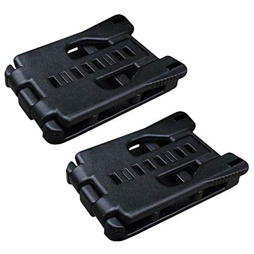 HECOPRO Tactical Belt Clip Universal Utility EDC Belt Clip Large with Hardware-2Pack