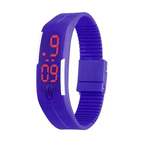 LED Touch Sports Silicone Watchband Reloj de Pulsera electrónico Reloj Digital de Pulsera Flexible para niños con Cierre de Pin-and-Tuck: Amazon.es: Relojes