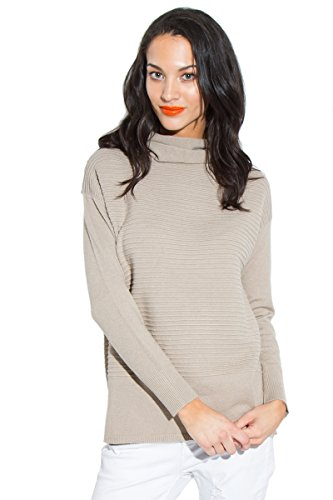 Sugar Lips Isolla Ribbed Sweater - Beige - M/L (Lips Ribbed Sugar)