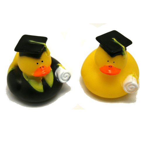 One Dozen (12) Graduation Graduate RUBBER Ducky DUCK Party Favors (Graduate Rubber Duck)