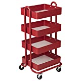 Four tiers, unlimited utility — get creative with the 4-Tier Utility Cart from ECR4Kids. Three tiers of basket shelves on a durable rolling frame allow for numerous storage possibilities. Its open-ended nature allows you to think outside the ...