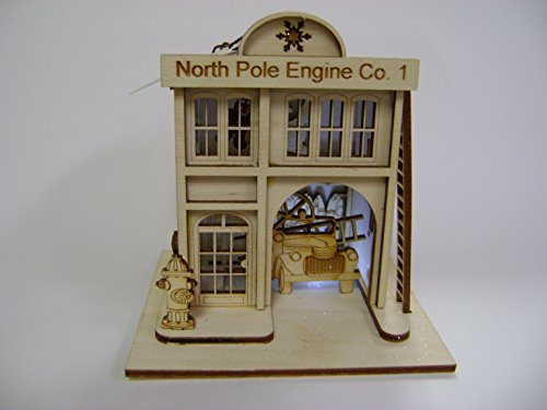 Ginger Cottages   North Pole Engine Company  1  Firehouse Gc120