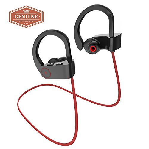 a b sea Wireless Bluetooth Headphones, Noise Cancelling Sport Headset with Mic and Secure Ear hooks