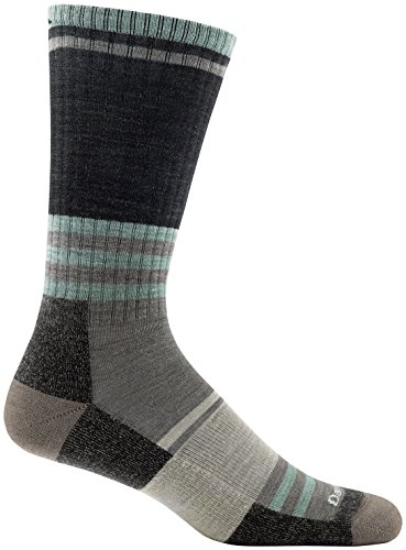 Darn Tough 1952 Men's Merino Wool Spur Boot Light Cushion Socks, Black, Medium (8-9.5)