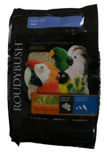 RoudyBush Low Fat Bird Food, Medium, 25-Pound ()