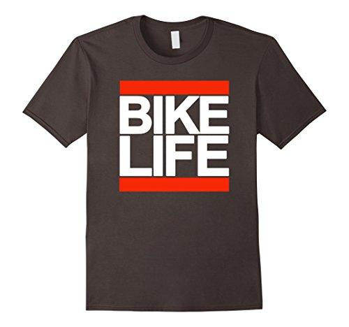Mens Bike Life (Mens Bike life bold biking t-shirt XL Asphalt)