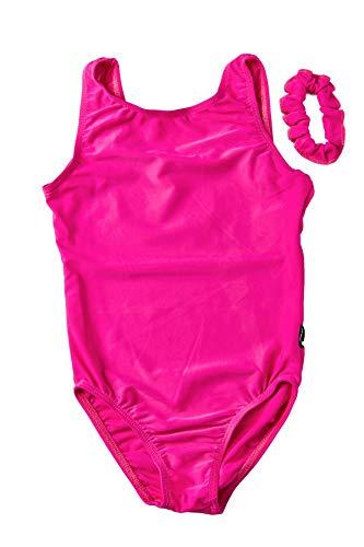 DESTIRA Pink Lycra Leotard for Girls Gymnastics, Child JR/Size 12