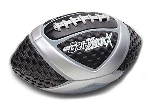 - Fun Gripper Grip Zone (X) Football 9.0 Silver, Youth Size By: Saturnian I