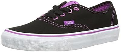 Vans Unisex Authentic (Clear Eylts) Blk/Rdntorchd Skate Shoe 6.5 Men US / 8 Women US