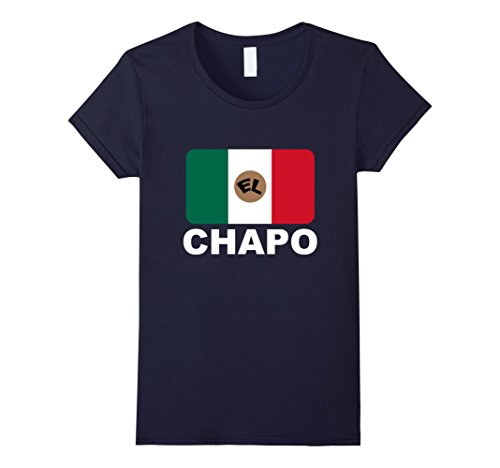 Women's El Chapo T-shirt Large Navy