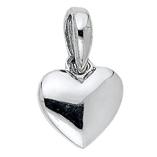 Precious Stars Jewelry 14k White Gold Tiny Puffed Heart Pendant from Precious Stars Jewelry