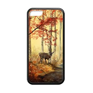 Histepr deer forest iPhone 5 iPhone 5C TPU (Laser Technology) Case