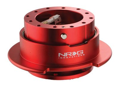 NRG Gen 2.5 Steering Wheel Quick Release Kit Red Body with R