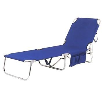 Papillon 8043515 - Tumbona playa metal cama, color azul: Amazon.es ...