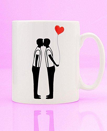 Amazon.com: Gay Silhouette Taza de globo – Taza gay – regalo ...