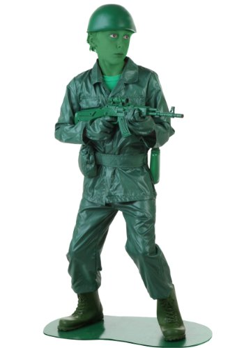 Fun Costumes Exclusive Big Boys' Green Army Man Costume Large ()