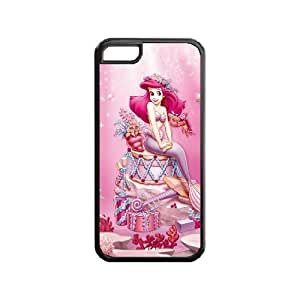 Lmf DIY phone caseThe little Mermaid Customized rubber material TPU ipod touch 5 white CaseLmf DIY phone case