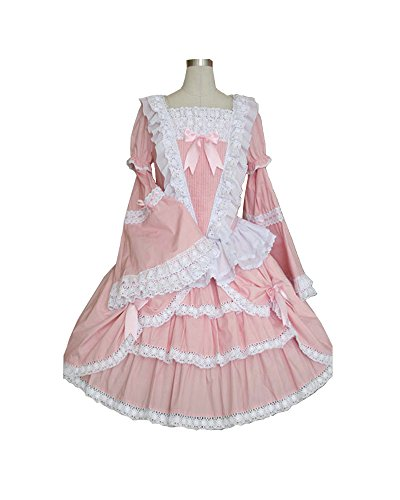 COSSKY Sweet Pink Lolita Dress Gothic Puff Vintage Dresses for Women