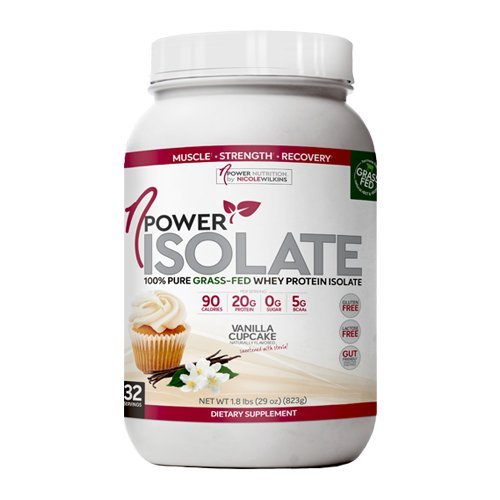 nPower Nutrition | 100% Pure Grass Fed Whey Protein Isolate, Enzymes, All Natural Sweeteners | Vanilla Cupcake | 32 Servings … Review