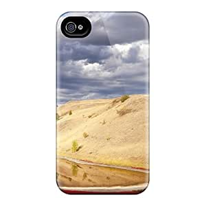 Top Quality Case Cover For Iphone 4/4s Case With Nice Lovely Pond In A Brithish Columbia Park Appearance