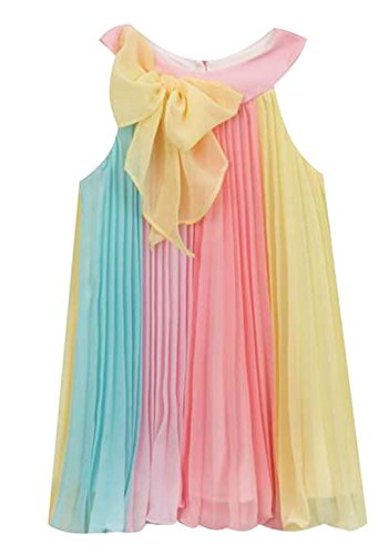 Rare Editions Rainbow Chiffon Girls Dress (2T) - Rare Editions Baby Dresses