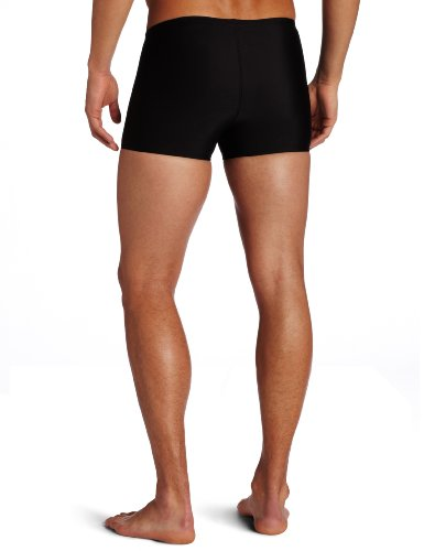 Speedo Men's Race Endurance+ Polyester Solid Square Leg Swimsuit