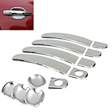 New Chrome Side Door Handle + Mirror Covers For 2009-2013 Toyota Corolla / 2007-2011 Toyota Yaris