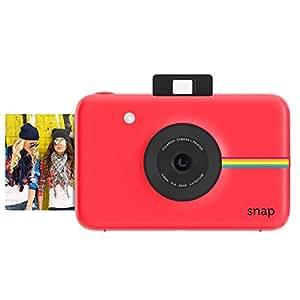 Polaroid Snap - Cámara digital instantánea (tecnología de impresión ZINK Zero Ink, 10 Mp, Bluetooth, micro SD, fotos de 5 x 7.6 cm), color rojo