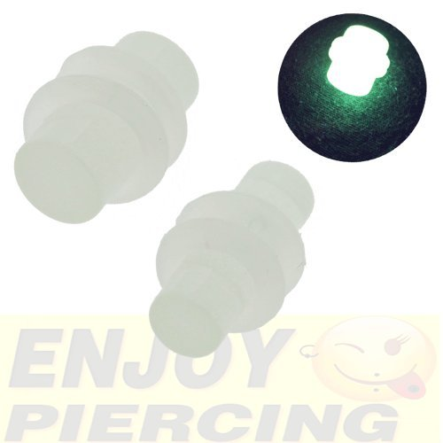 Piercing Plug Acrylique Phosphorescent Phospho 3mm