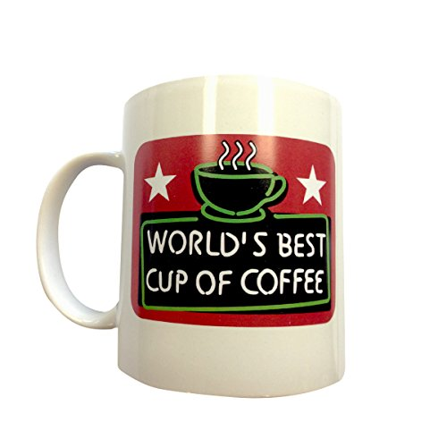 MyPartyShirt World's Best Cup of Coffee Mug Elf Christmas Movie Will Ferrell Shop Sign Buddy
