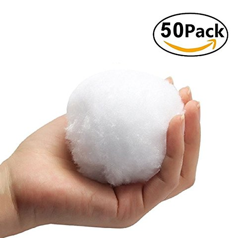 H+Y4T35D4TR Family Party Winter White Fake Snowballs Friends Toy Play … (50)